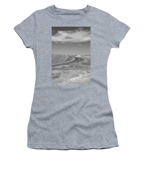 Women's T-Shirt (Junior Cut) featuring the photograph The Quiet Road by Kathleen Grace