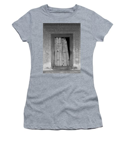 Women's T-Shirt (Junior Cut) featuring the photograph Tomb Door by David Pantuso