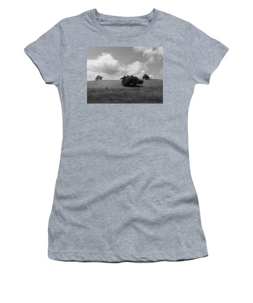 Women's T-Shirt (Junior Cut) featuring the photograph Trees On The Hillrise by Kathleen Grace
