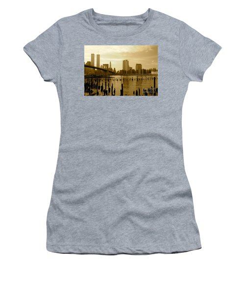 View From Brooklyn Bridge Park Women's T-Shirt (Junior Cut) by Mark Gilman