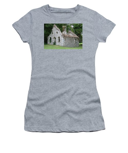 Women's T-Shirt (Junior Cut) featuring the photograph Walls For The Winds by Charlie and Norma Brock