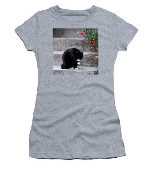 Women's T-Shirt (Junior Cut) featuring the photograph Washing Up by Lainie Wrightson