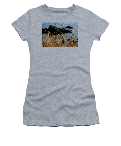 Women's T-Shirt (Junior Cut) featuring the photograph Watching The Sea 1 by Pedro Cardona