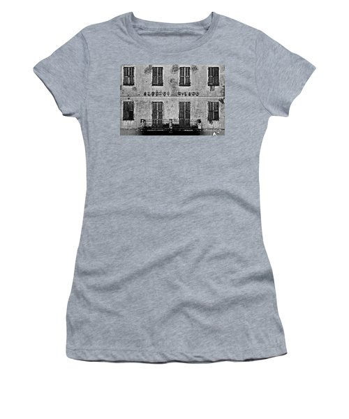 Women's T-Shirt (Junior Cut) featuring the photograph Welcome To The Hotel Milano by Andy Prendy