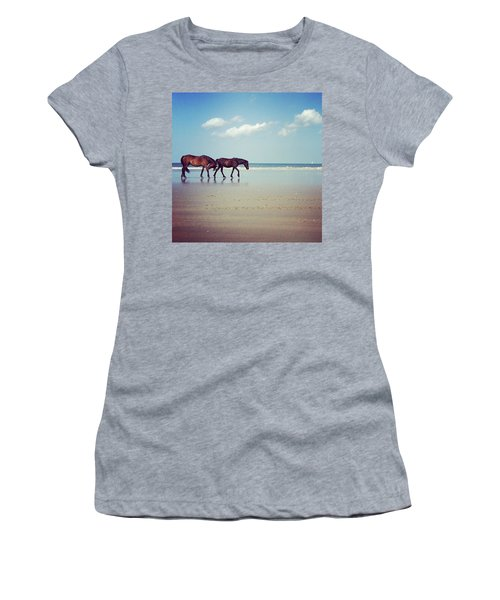 Well, This Just Happened. #wild #horses Women's T-Shirt