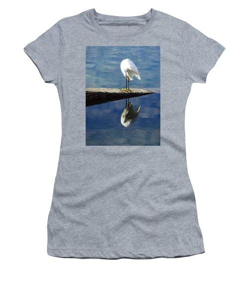 White Heron Women's T-Shirt (Junior Cut) by Anne Mott