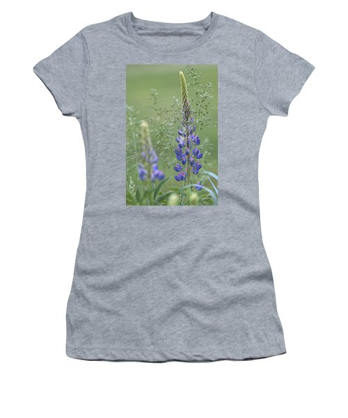Wild Lupine Flower Women's T-Shirt (Athletic Fit)