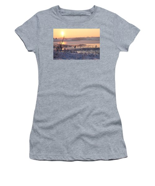 Women's T-Shirt (Junior Cut) featuring the photograph Winter's Morning by Elizabeth Winter