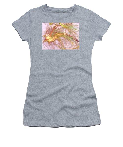 Women's T-Shirt (Junior Cut) featuring the digital art Wispy Willow by Kim Sy Ok