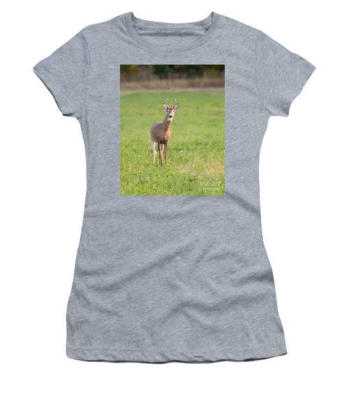 Young Buck Women's T-Shirt (Junior Cut) by Art Whitton