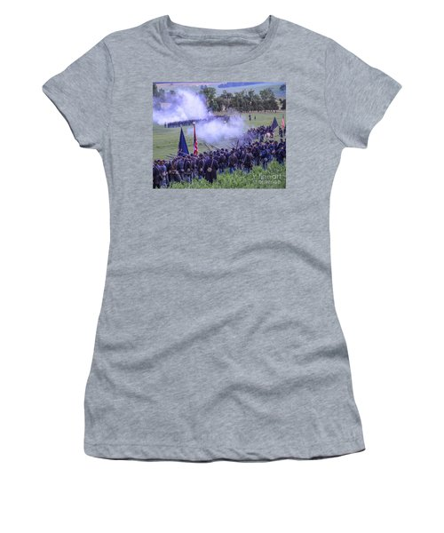 Gettysburg Union Artillery And Infantry 7496c Women's T-Shirt