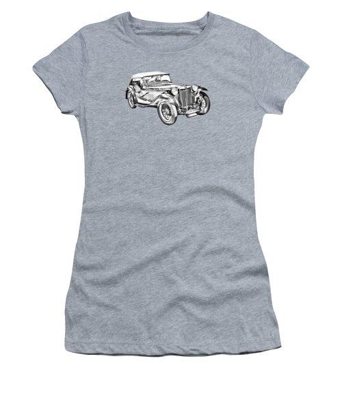 Mg Tc Antique Car Illustration Women's T-Shirt