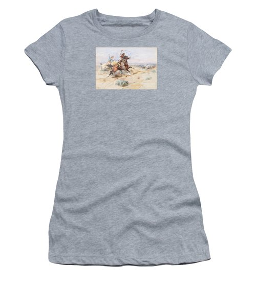 Roping A White Wolf  Women's T-Shirt