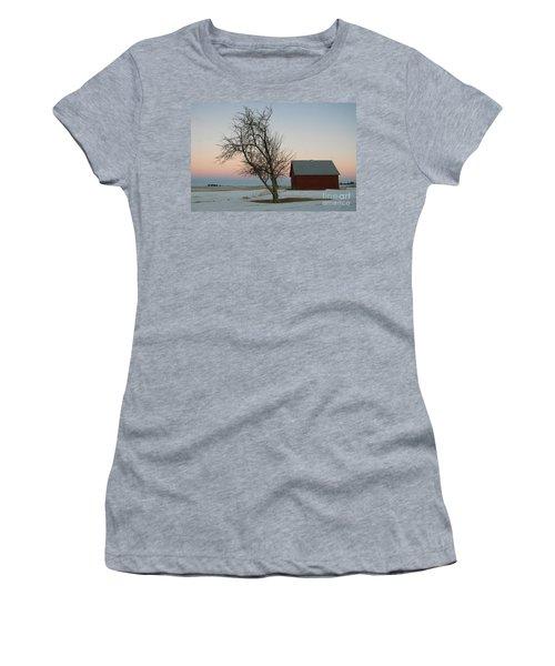 Winter In Rural America Women's T-Shirt (Junior Cut)