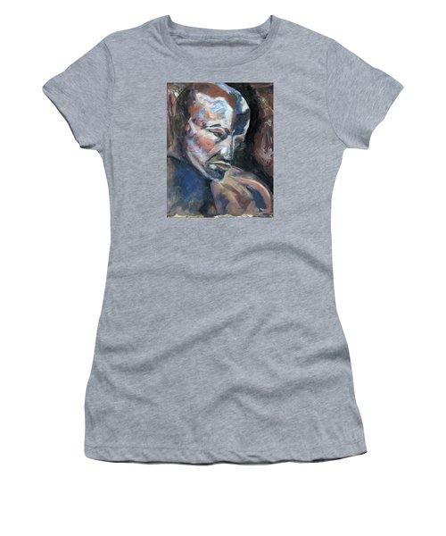 01323 Thinker Women's T-Shirt (Junior Cut) by AnneKarin Glass