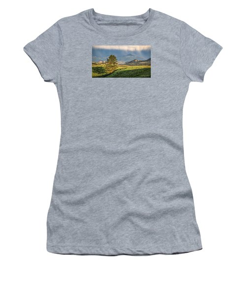 #0613 - Absaroka Range, Paradise Valley, Southwest Montana Women's T-Shirt (Athletic Fit)