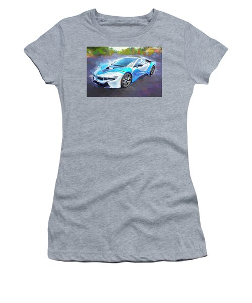 2015 Bmw I8 Hybrid Sports Car Women's T-Shirt (Junior Cut) by Rich Franco
