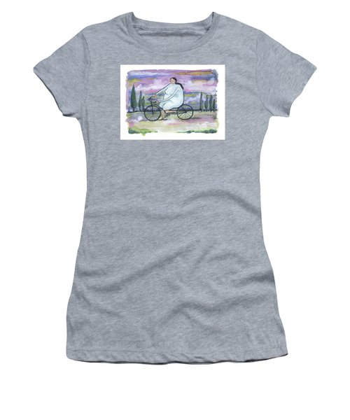 Women's T-Shirt (Junior Cut) featuring the painting A Beautiful Day For A Ride by Leanne WILKES