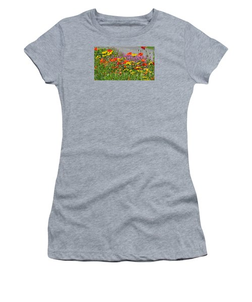 Women's T-Shirt (Junior Cut) featuring the photograph Along The Road by Jeanette Oberholtzer