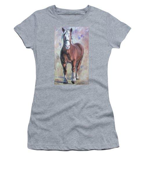 Arthur The Belgian Horse Women's T-Shirt (Athletic Fit)