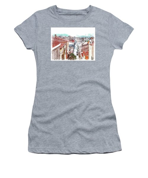 Arzachena View Of The Corso Garibaldi Women's T-Shirt (Athletic Fit)