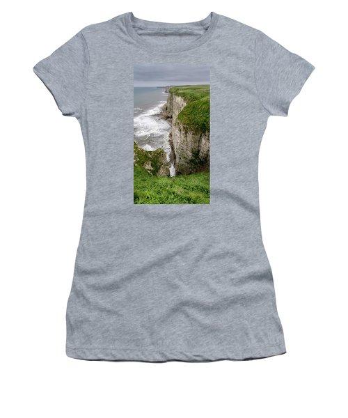 Bempton Cliffs Women's T-Shirt (Junior Cut) by Nigel Wooding
