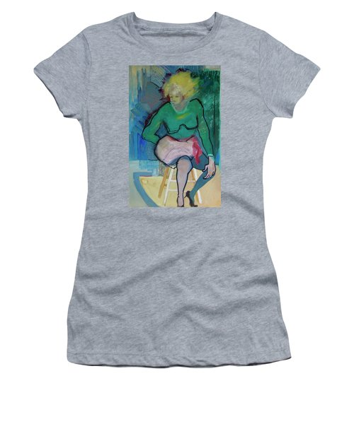 Blonde In Green Shirt Women's T-Shirt (Athletic Fit)