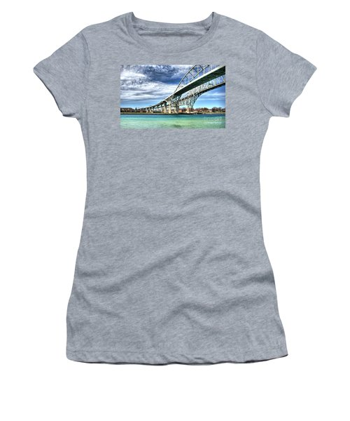 Blue Water Bridge Women's T-Shirt (Athletic Fit)