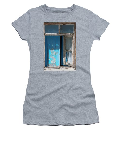 Blue Window Women's T-Shirt (Athletic Fit)