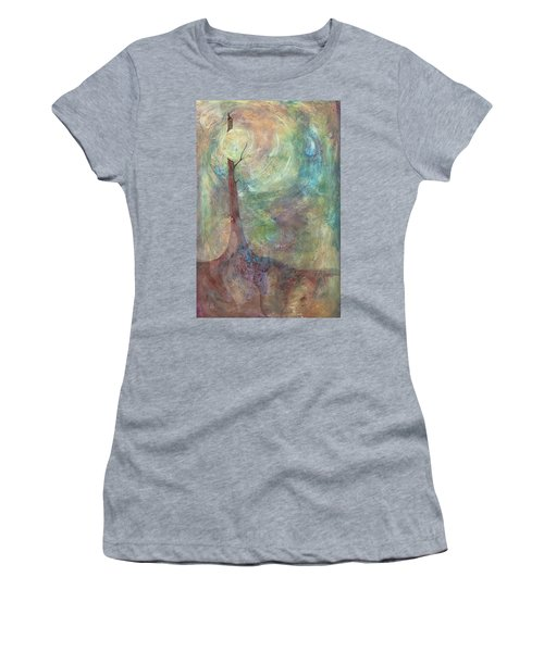 Women's T-Shirt (Junior Cut) featuring the painting Breaking Dawn by Pat Purdy