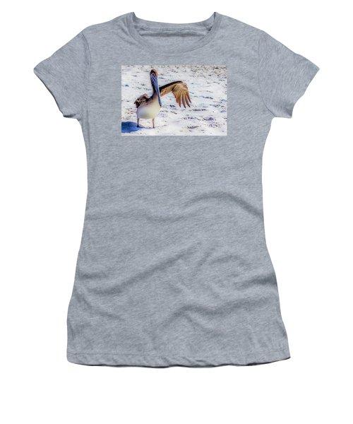 Brown Pelican Wave Women's T-Shirt