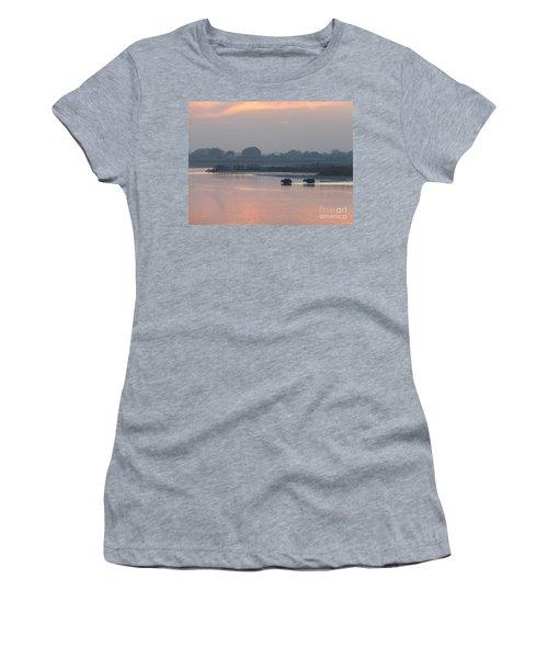 Buffalos Crossing The Yamuna River Women's T-Shirt