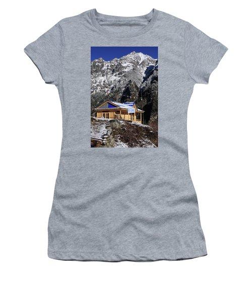 Meeting Point Mountain Restaurant Women's T-Shirt (Junior Cut) by Aidan Moran