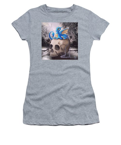 Captive Dragon On An Old Skull Women's T-Shirt (Athletic Fit)