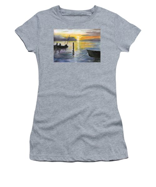 Chesapeake Sunset Women's T-Shirt (Athletic Fit)