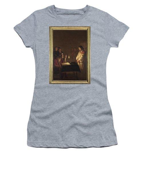 Christ Before The High Priest Women's T-Shirt (Junior Cut) by Gerrit van Honthorst