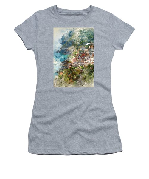 Cinque Terre In Italy Women's T-Shirt (Athletic Fit)