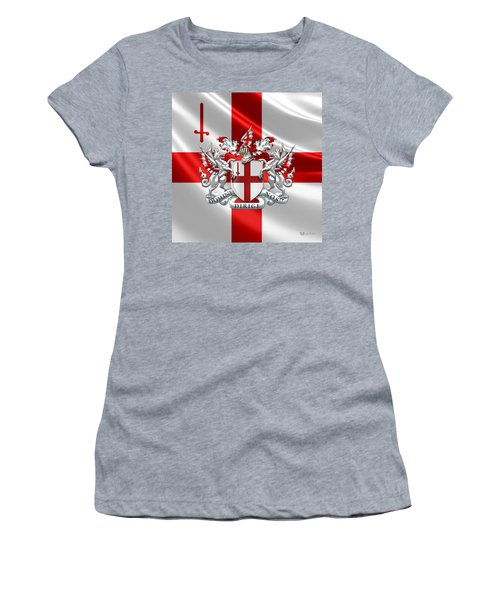 City Of London - Coat Of Arms Over Flag  Women's T-Shirt