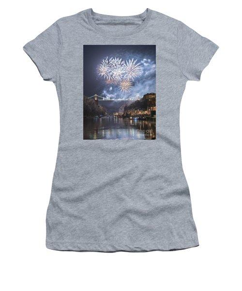 Clifton Suspension Bridge Fireworks Women's T-Shirt