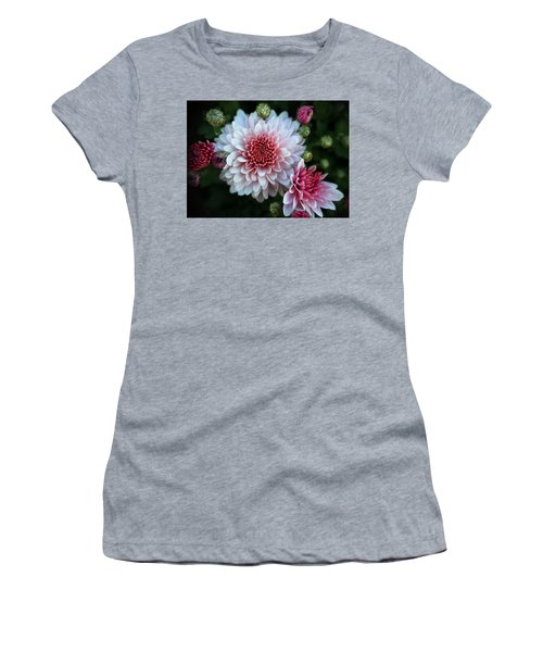 Dahlia Burst Women's T-Shirt (Athletic Fit)