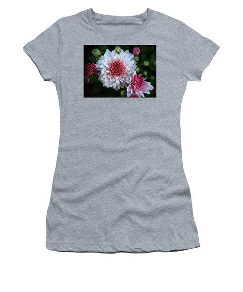 Dahlia Burst Women's T-Shirt (Athletic Fit)