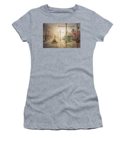 Fog Deserted Street Women's T-Shirt (Athletic Fit)