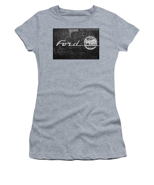 Ford F-100 Emblem On A Rusted Hood Women's T-Shirt