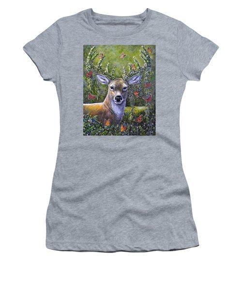 Forest Monarch Women's T-Shirt (Junior Cut) by Gail Butler