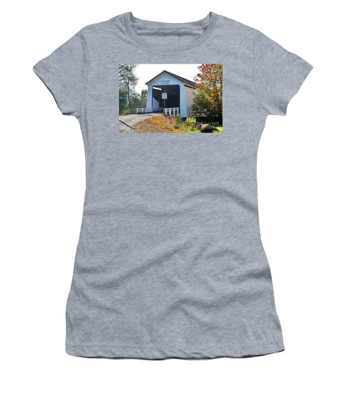 Gallon House Covered Bridge Women's T-Shirt (Junior Cut) by Ansel Price