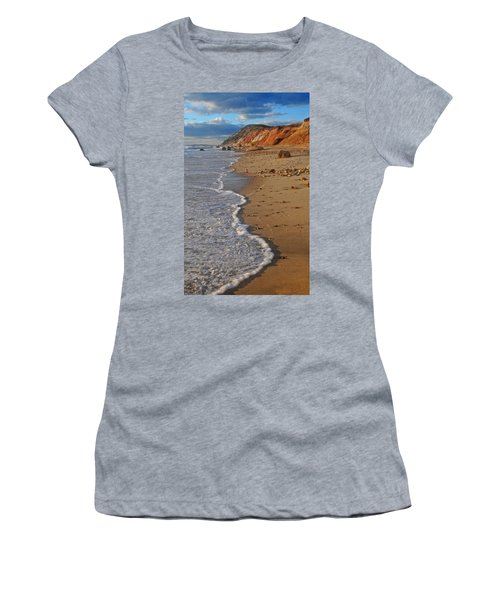 Gayhead Cliffs Marthas Vineyard Women's T-Shirt (Junior Cut) by Dave Mills