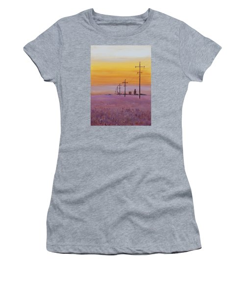 Women's T-Shirt featuring the painting Glow by Ruth Kamenev