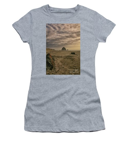 Haystack Rock Women's T-Shirt (Athletic Fit)