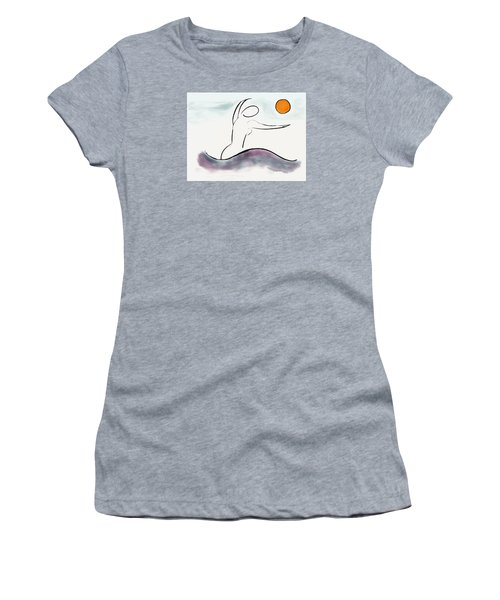 Women's T-Shirt (Junior Cut) featuring the photograph Hello Sunshine by Haleh Mahbod