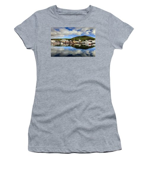 Husavik Harbor Women's T-Shirt (Athletic Fit)
